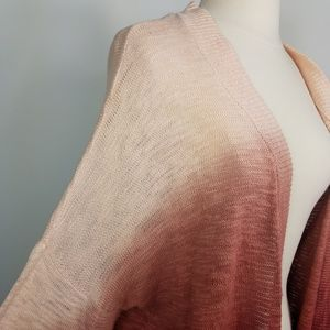 Sonoma Sweaters - Sonoma Ombre Pink Kintted Open Front Cardigan